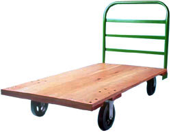 Wood platform truck