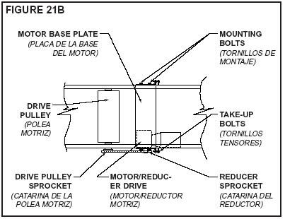adjusting conveyor tension