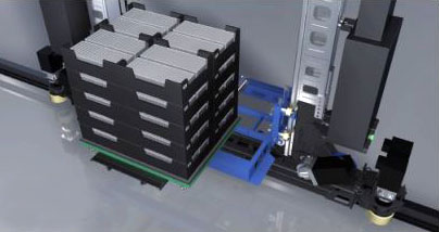 Mini-load system with totes.
