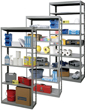 Hallowell Full-Access Open Steel Shelving