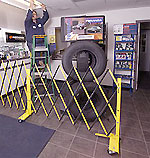 Mobile barrier gates for safer working conditions
