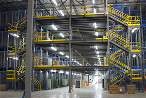 Mezzanine Lighting Systems Lumen Optix Energy Efficient