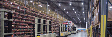 Warehouse lighting system - high efficency