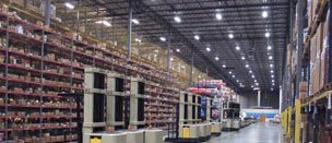 Well lit warehouse
