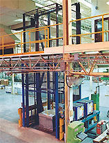 4-post vertical reciprocating conveyor lift