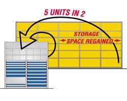 Space saving modular drawers