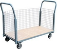 "3 Sided Platform Truck with Wire Panels - 24""W x 48""L"