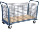 "4 Sided Platform Truck with Wire Panels - 24""W x 48""L"
