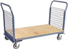 "2 Sided Platform Truck with Wire Panels - 24""W x 48""L"