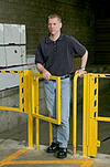 "LadderGard Adjustable Swing Gate - fits 16""-26"" opening"