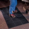 Modular WorkSafe Light Grease-Proof Black Mat: 1/2in x 3ft x 3ft