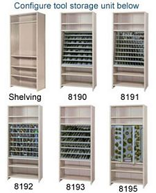 "Closed Steel Tool Storage Shelving - Starter, 36""w x 18""d x 84""h, W/ 6 Shelves, 750 lbs Per Shelf Capacity"