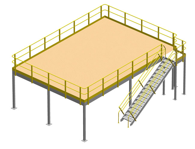 mezzanine or work platform