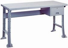 steel top industrial workbench