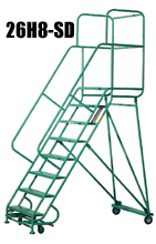 Cisco eagle catalog 8 step super duty mobile ladder for A frame ladder safety tips