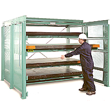 roll out sheet metal rack