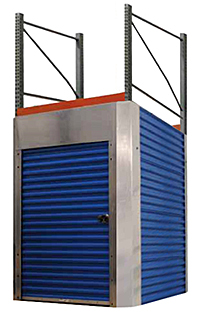 pallet rack solid side enclosures