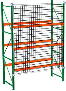 Pallet Rack with Safety Netting