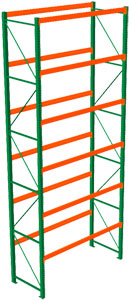 tall pallet rack in warehouse
