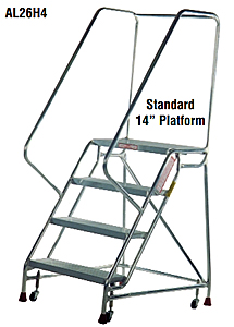Aluminum Mobile Ladder Stands With Handrails Mobile Work