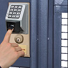 biometric lock for a coloacation facility