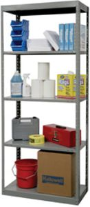 "Hallowell Full-Access Open Shelving - 24"" deep x 36"" wide w/ 2 Fixed & 3 Adjustable Shelves"