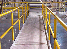 Cisco eagle catalog plastic sleeved steel handrail for Mezzanine guard rail