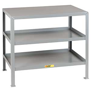 two thousand pound capacity work stand with three shelves