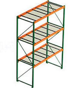pallet rack with wire decking