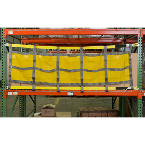 Rack Safety Straps with Mesh Panel in Use