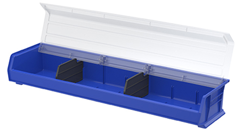 Extra-Wide Shelf Bin with Lid and Dividers