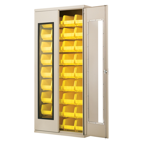 Quick-View Security Cabinet with Bins