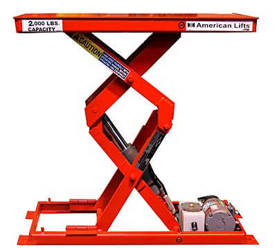 Compact scissor lift in profile