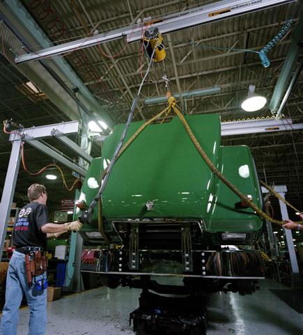 Balancer lifting truck assembly
