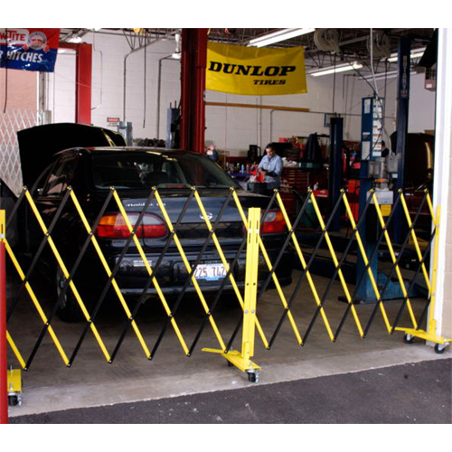 Mobile Barrier in Use At Auto Shop