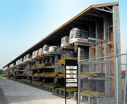 outdoor cantilever racks