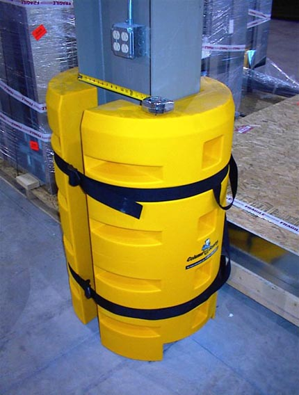 Extra large application  utilizing two protectors to cover the column