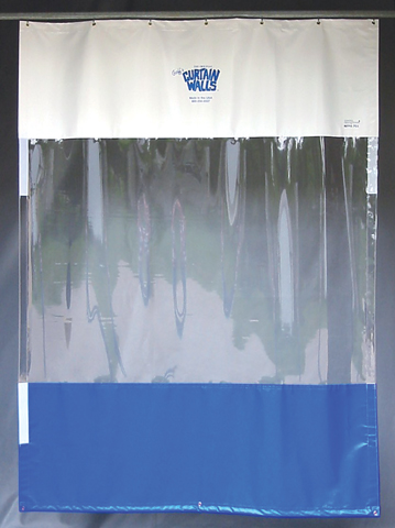 Vinyl strip curtain room