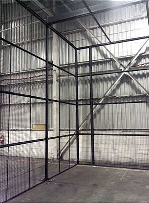 DEA-standard narcotics and pharmaceutical security cages can be modified to meet nearly any existing storage facility requirements.
