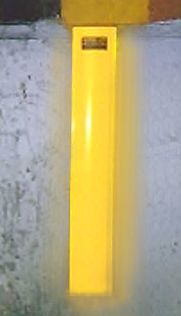 "Yellow 18"" reflector with 1000 candle power reflectivity"