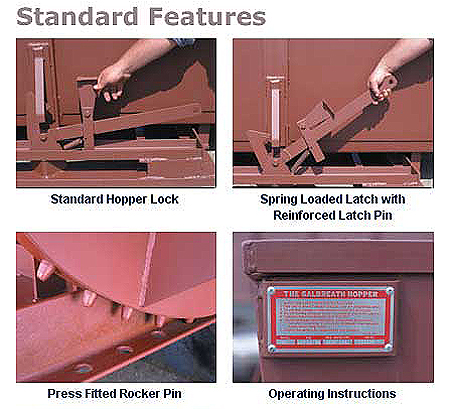 Standard features on all hoppers