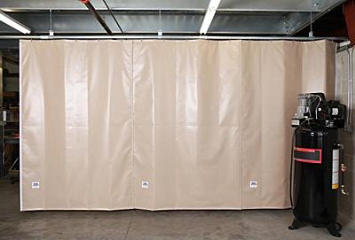 sound dampening curtain w hardware 5 39 w x 8 39 h beige. Black Bedroom Furniture Sets. Home Design Ideas