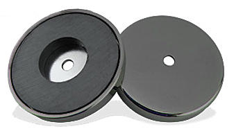Top and bottom of magnet in case