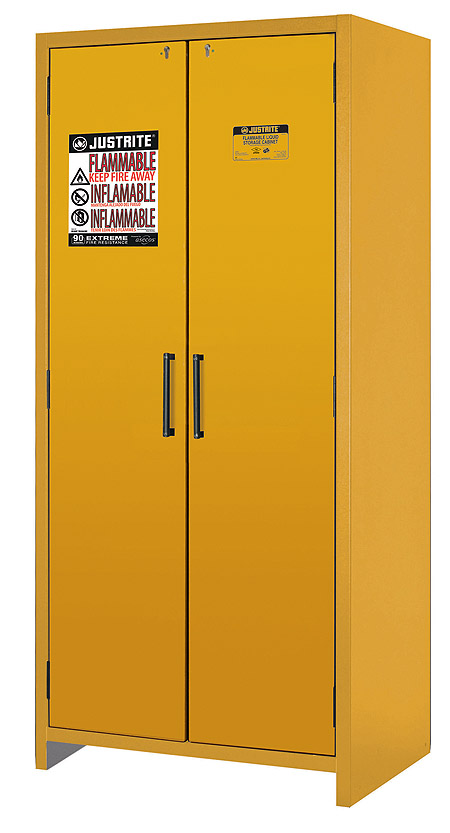 Double door cabinet in closed position