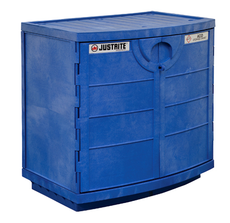 Cabinet is resistant to corrosive acids and bases