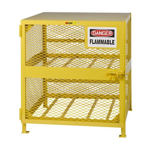 Empty Cylinder Storage Cage