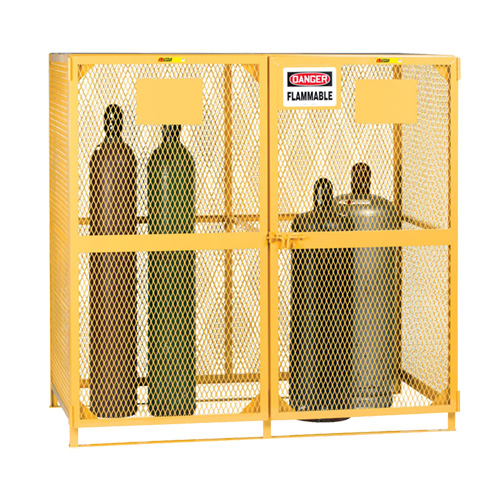 Cylinder Storage Cage with Blank Labels