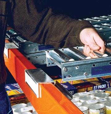 installing Unex Span Track Carton flow