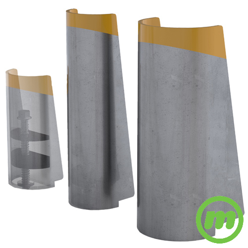 "Shock Absorbing Post Protectors come in heights of 10"", 16"" and 16"" with extra width"