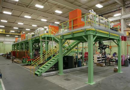Mezzanine in a manufacturing facility